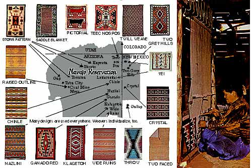 Navajo Rugs Reservation Map